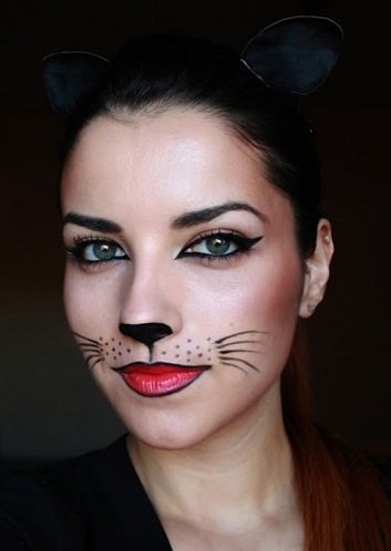 maquillaje sexy halloween catwoman