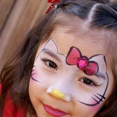 pintacaras fáciles para niños Hello Kitty