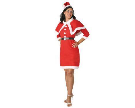 disfraz de papa noel barato para navidad mujer