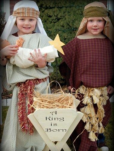 disfraz casero de portal de belén navidad 2013