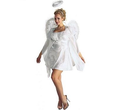 angel mujer vestido