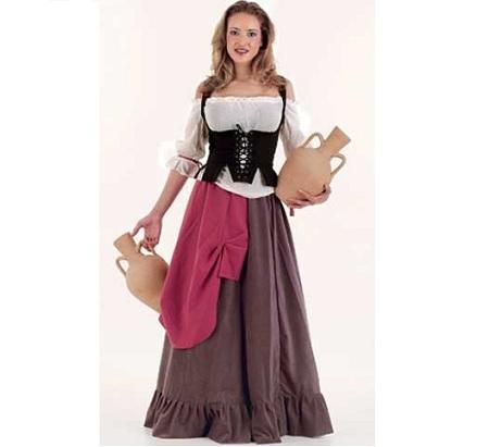disfraces medievales campesina falda volante
