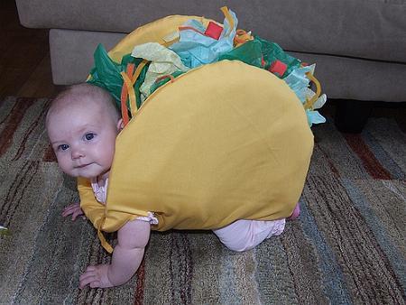 Disfraces originales para bebé: taco