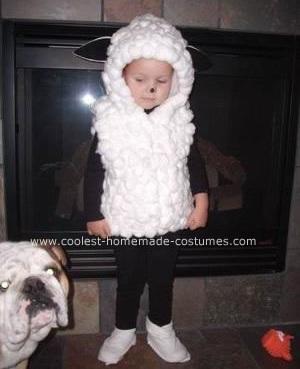 disfraz casero bebe oveja