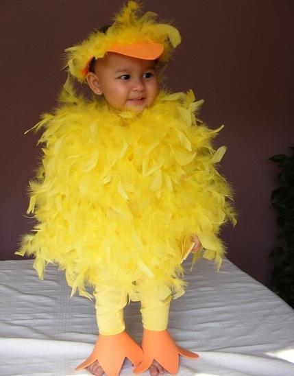 disfraz casero bebe pollito