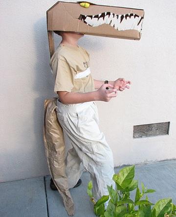 disfraz casero dinosaurio