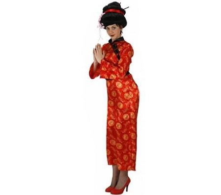 disfraz chinos rojo