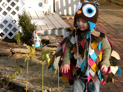 Disfraz divertido de niño: buho