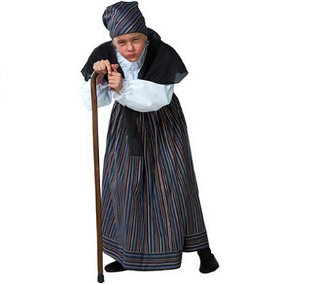 disfraz nina abuelita