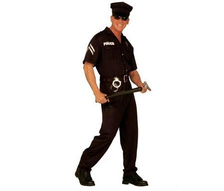 disfraz policia porra