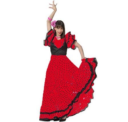 flamenca mujer lunares