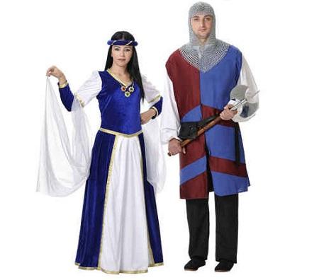 medievales pareja cortesana