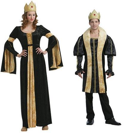 medievales pareja dorado