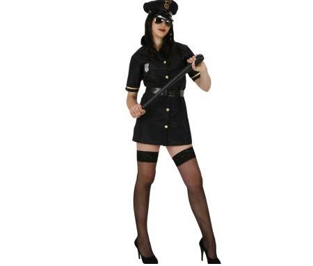 mujer policia porra