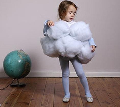 disfraz casero nino nube