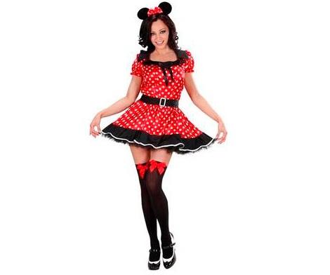 disfraz minnie mujer rojo negro