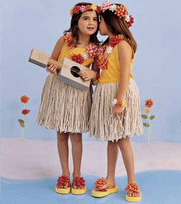 disfraces caseros ninos hawaianas