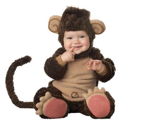 disfraces para bebes animales mono