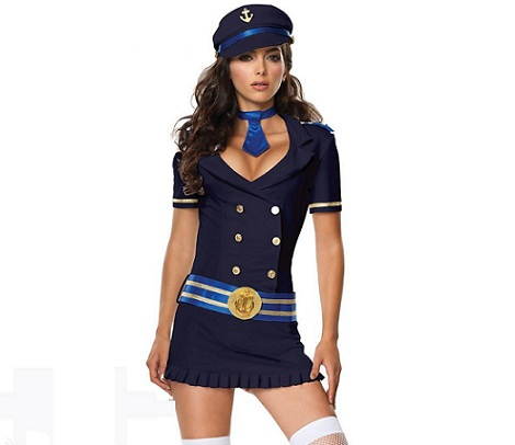disfraces sexys mujer aviador