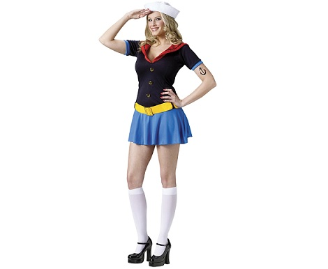 disfraces sexys mujer popeye