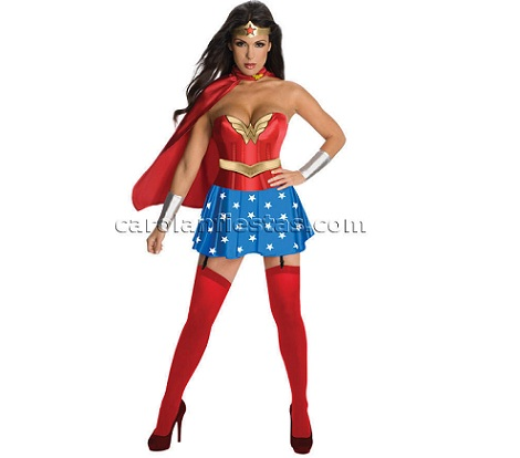 disfraz comic mujer maravilla