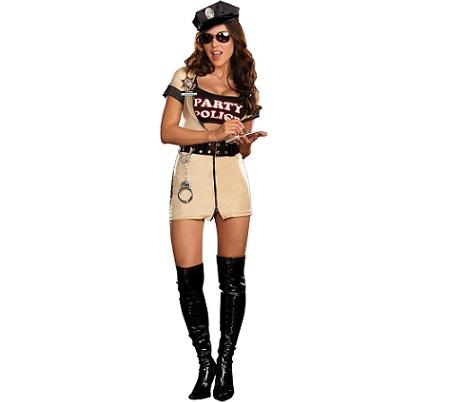 5 disfraces mujer sexy policia