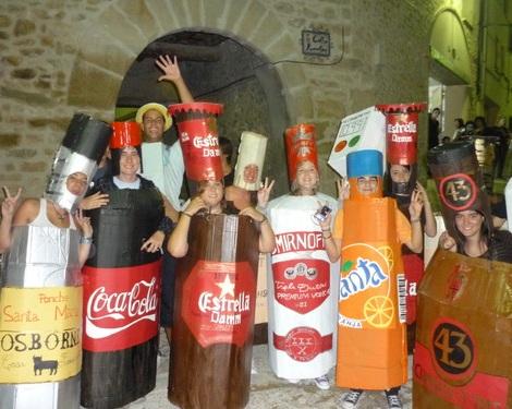 disfraces caseros originales botellon