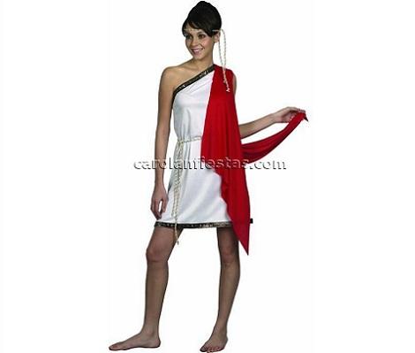 disfraces griegos mujer corto