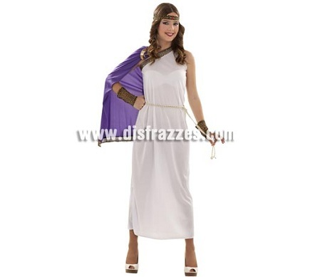 disfraces griegos mujer toga