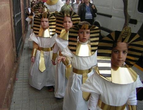 disfraz egipcio casero nino