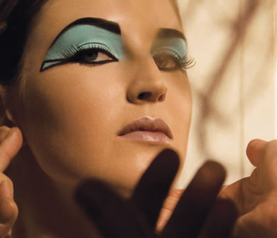 disfraz egipcio maquillaje