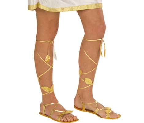 disfraz romana sandalias