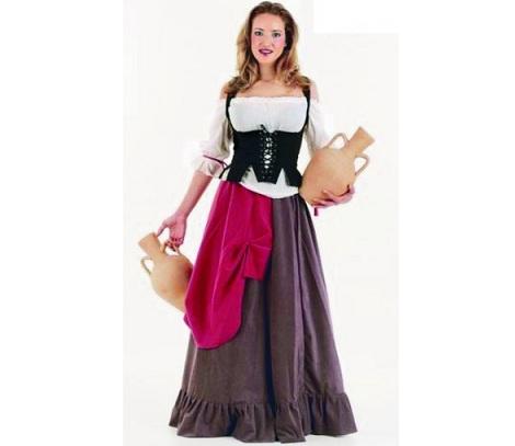 trajes medievales mujer campesina