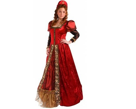 trajes medievales mujer cortesana