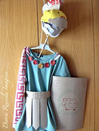 disfraz romano casero nino
