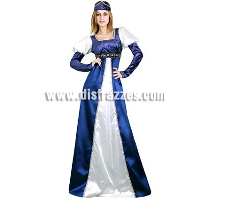 disfraces medievales mujer senora azul