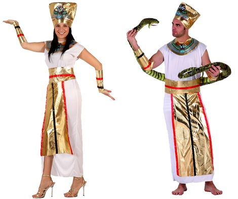 disfraces paejas egipcios