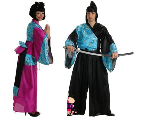 disfraces parejas geisha