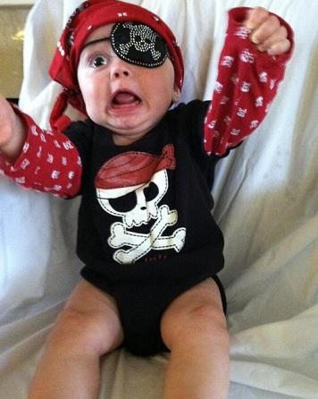 disfraces bebé originales pirata