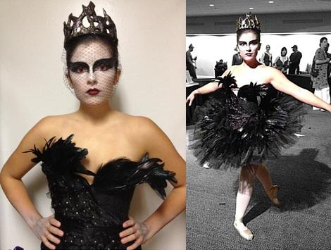 disfraces caseros halloween cisne negro