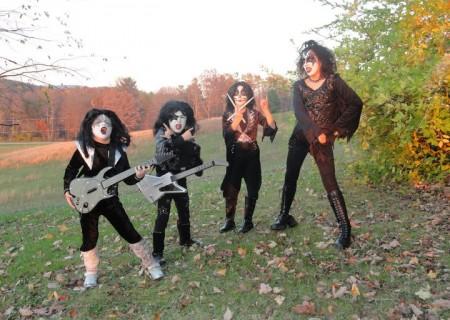 disfraces caseros halloween grupos kiss