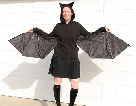 disfraces caseros halloween mujer murcielago
