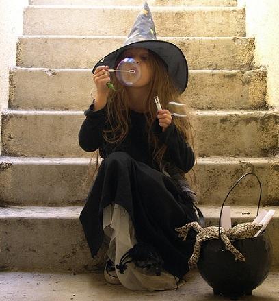 disfraces caseros halloween niños bruja