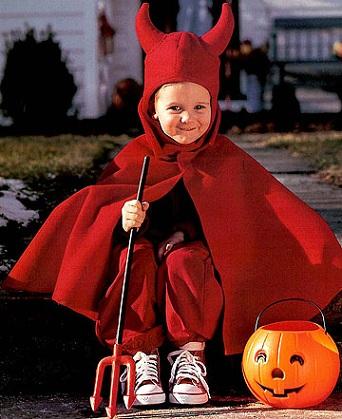 disfraces caseros halloween niños diablo