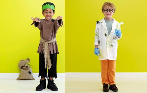 disfraces caseros halloween niños frankstein