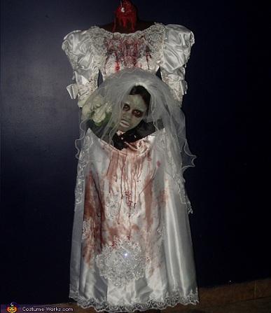 disfraces caseros halloween novia cadaver