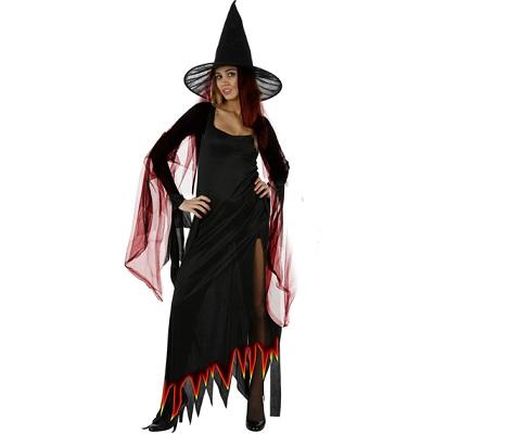 disfraz bruja mujer fuego