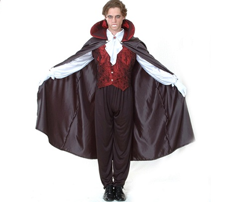 disfraz vampiro capa negra