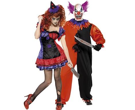 7 Disfraces de Halloween para parejas; payasos