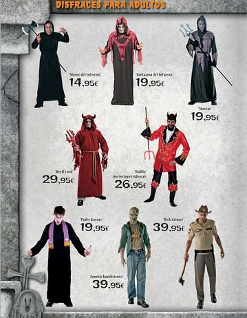 catalogo el corte ingles halloween 2012 hombres